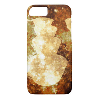 Brown Yellow Abstract Crystal Star Lights Case