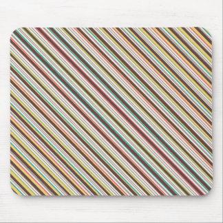 Brown Yellow Diagonal Stripes Mousepad
