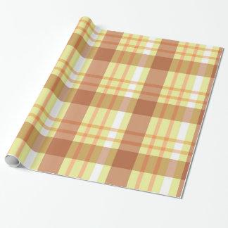 Brown yellow plaid pattern