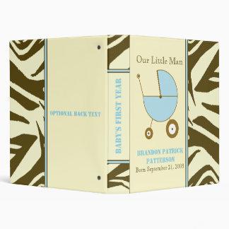 Brown Zebra Print Baby Boy Binder