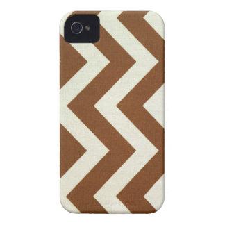 Brown Zig Zag iPhone iPhone 4 Case-Mate Case
