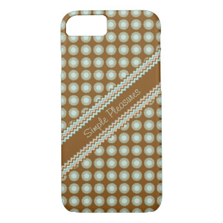 Brown Zigzag and Polka dots Case-Mate iPhone Case