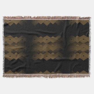 Brown Zigzag Throw Blanket