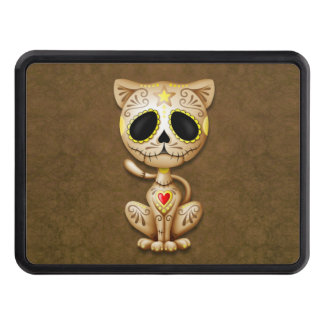 Brown Zombie Sugar Kitten Cat Trailer Hitch Cover
