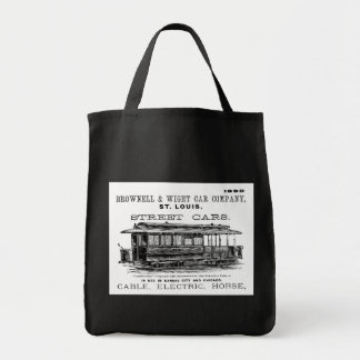 Brownell Car Company 1890 Grocery Tote Bag