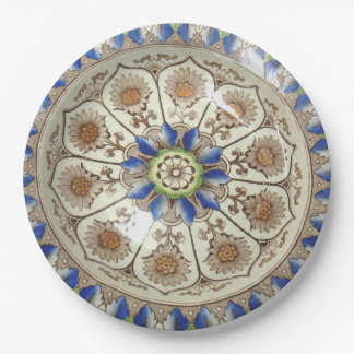 "Brownfield Cyprus Polychrome 19C 9"" paper plate"