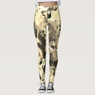 Brownie Ala Mode Abstract Painting Leggings