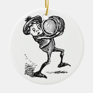 Brownie Carrying Keg Ceramic Ornament