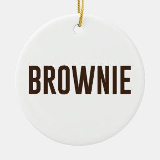 Brownie Ceramic Ornament