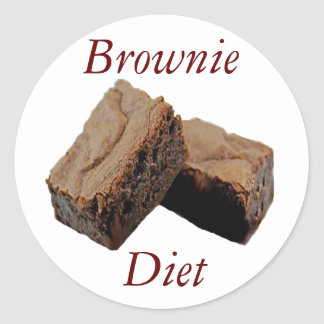 Brownie Diet Classic Round Sticker