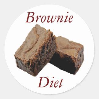 Brownie Diet Round Sticker