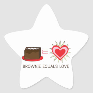 Brownie Equals Love Sticker
