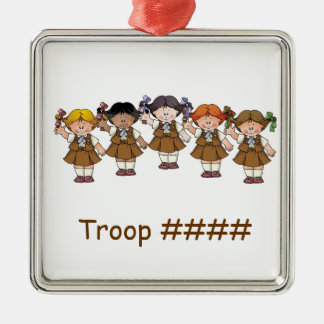 Brownie Group Silver-Colored Square Ornament