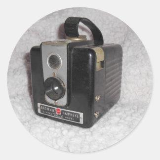 Brownie Hawkeye Camera Round Sticker