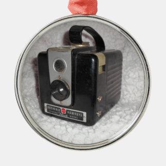 Brownie Hawkeye Camera Silver-Colored Round Ornament