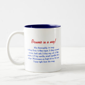Brownie in a mug personalized gift with recipe