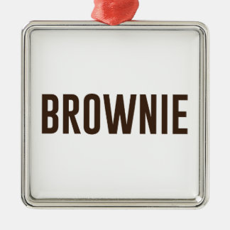 Brownie Metal Ornament