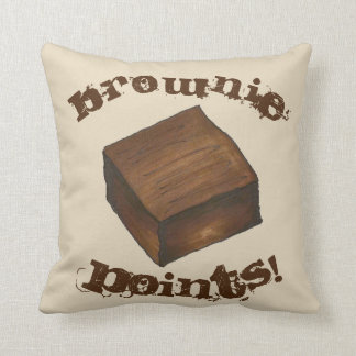 Brownie Points Foodie Baked Goods Dessert Throw Pillow