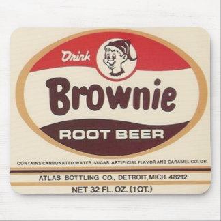 brownie root beer label mousepad