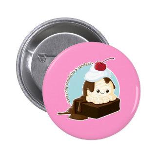 Brownie Sundae Pinback Buttons