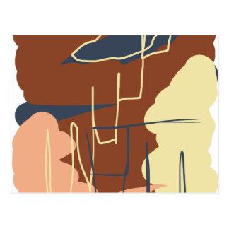 Brownie Town Colors Postcard