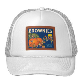 Brownies Brand Vintage Fruit Crate Label Trucker Hat
