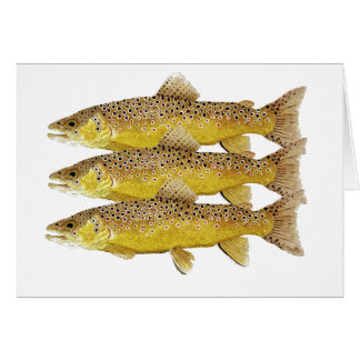 Brownies- Brown Trout Card