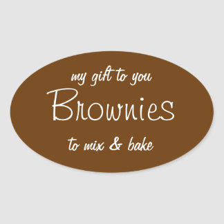 Brownies in a Jar Label Gift Label