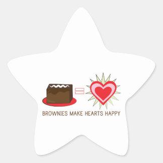 Brownies Make Hearts Happy Star Sticker