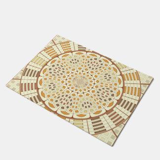 Brownish mandala doormat