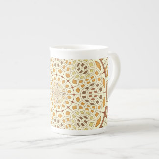 Brownish mandala tea cup