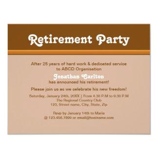 "Brownish Retirement Party 4.25"" X 5.5"" Invitation Card"