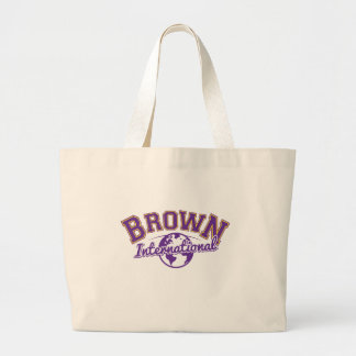 BrownLogo_Color.ai Large Tote Bag