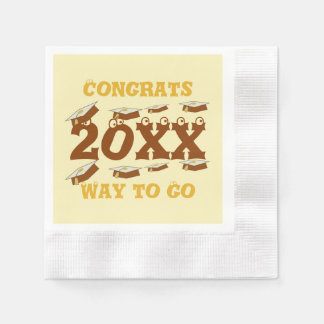 Browns Congrats Grads Way to Go Paper Napkins