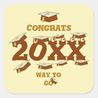 Browns Congrats Grads Way to Go Square Sticker