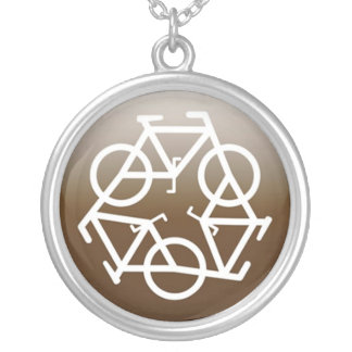 Browns recycle symbol silver plated necklace