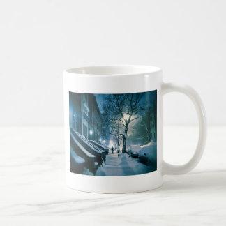 Brownstones Blanketed In Snow Coffee Mug
