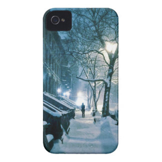 Brownstones Blanketed In Snow iPhone 4 Cover