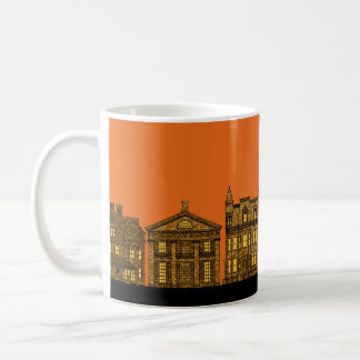 Brownstones in the City at Sunset Coffee Mug