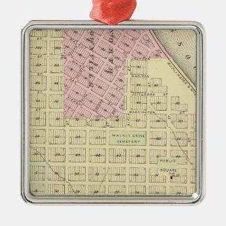 Brownville, Nebraska Silver-Colored Square Ornament