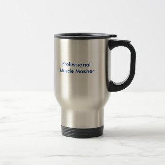 Broyeur professionnel de muscle mug de voyage en acier inoxydable
