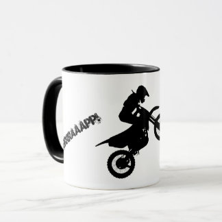 """BRRRAAAPP!"" text Dirtbike Mug"