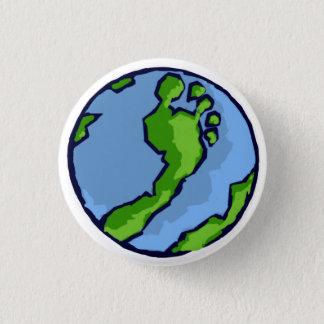 BRS Artsy Green Foot Globe Round 1 Inch Round Button