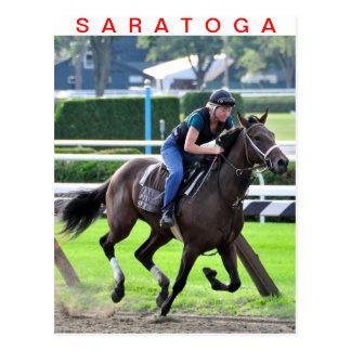 Bruce Brown Workouts at Saratoga Postcard