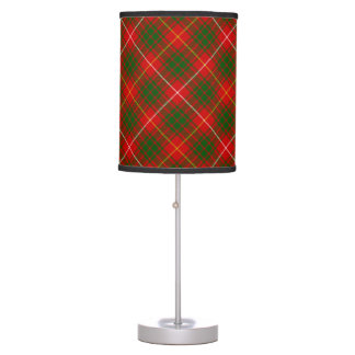 Bruce clan tartan red green plaid table lamp