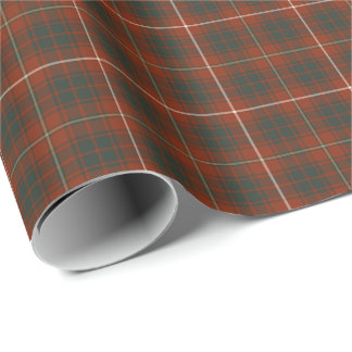 Bruce Clan Weathered Tartan Wrapping Paper