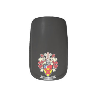Bruce Family Crest Coat of Arms Minx Nail Art