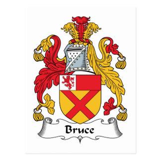 Bruce Family Crest Postcard