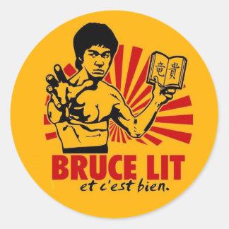 Bruce Lit Classic Round Sticker