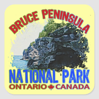 Bruce Peninsula National Park Square Sticker